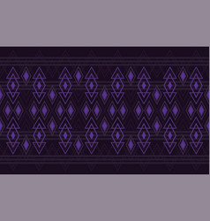 Ikat tribal art print seamless african pattern vector
