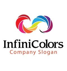 Infinite color design vector
