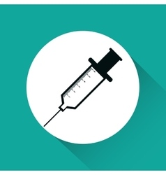 Injection medicine isolated icon vector