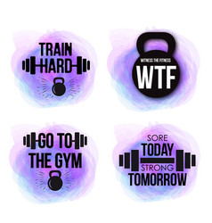 Inspirational fitness quotes to motivate vector