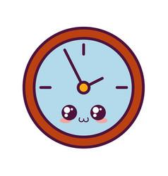 Kawaii clock icon image vector