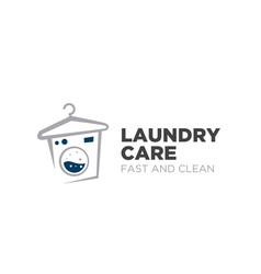Laundry care logo designs simple modern fast vector
