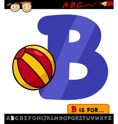 Letter b with ball cartoon vector