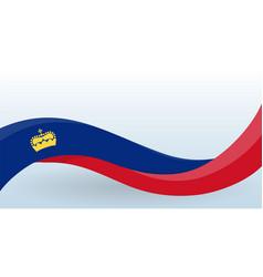 Liechtenstein waving national flag modern unusual vector