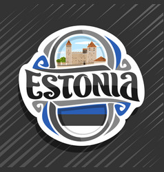 logo for estonia vector image