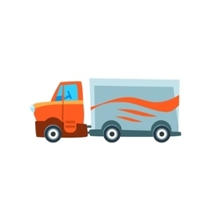 Long-Distance Cargo Truck Toy Cute Car Icon vector