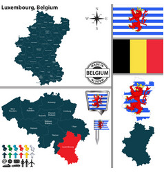 Map of luxembourg belgium vector