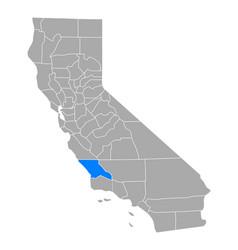 Map san luis obispo in california vector