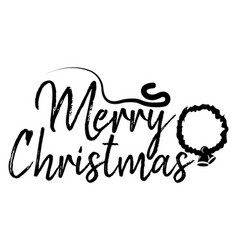 Merry christmas card and calligraphy happy new vector
