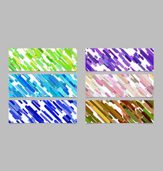modern random diagonal stripe pattern banner vector image