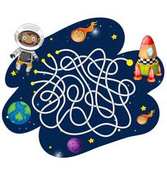 Monkey astronaut maze game vector