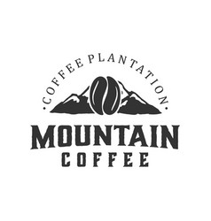 Mountain coffee cafe outdoor coffee brand label vector