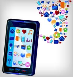 multimedia ipad vector image
