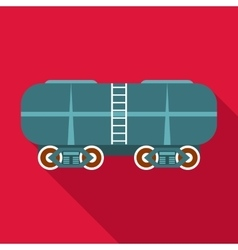 Oil railway tank icon flat style vector