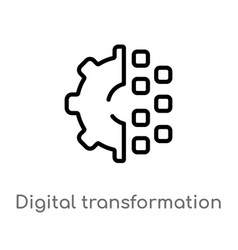 Outline digital transformation icon isolated vector
