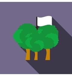 Paintball team flag icon flat style vector