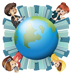 People and communication around the world vector