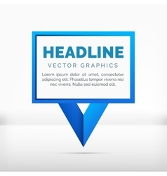 Pointer label graphics blue color vector image