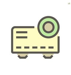 projector machine icon design for business vector image