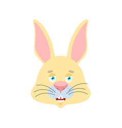rabbit happy emoji hare merry emotions animal vector image