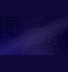 Realistic starry night sky with milky way vector