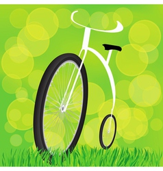 Retro styled bicycle vector