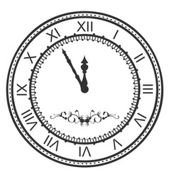 round watch dial at five minutes to midnight new vector image