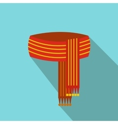 Scarf flat icon vector