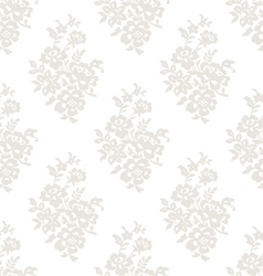 Seamless light floral wallpaper vector image