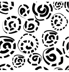 Seamless pattern with freehand doodles vector