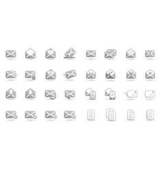 set email icon logo design vector image
