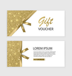 Set of gift voucher card template advertising or vector