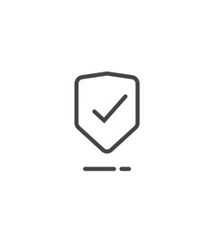 shield icon line outline safety symbol vector image