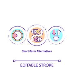 short-term alternatives concept icon vector image