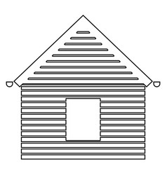 Siding front the black color icon vector