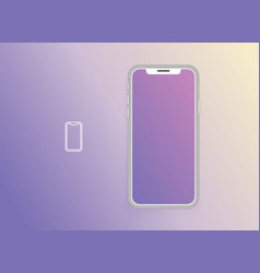 smartphone with blank screen mock up smartphone vector image