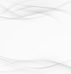 Smooth gray wave modern abstract layout vector