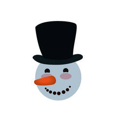 snowman christmas cartoon vector image