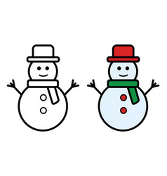 snowman icon on white background vector image