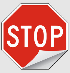 stop label sign eps 10 vector image