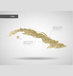 Stylized cuba map vector