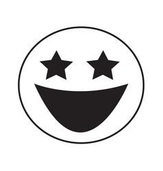 Thin line laugh emoticon icon vector