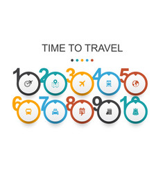 time to travel infographic design template hotel vector image