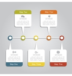 Timeline infographic layout template vector image