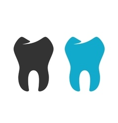 Tooth Icon logo on white background vector