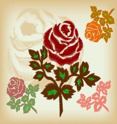 vintage flower vector image
