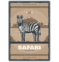 Vintage poster for safari hunt club vector