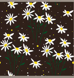 white camomile distressed white chamomile flowers vector image