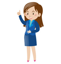 woman in blue suit vector image