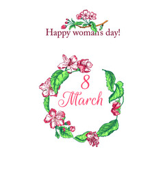 Womens day card vector